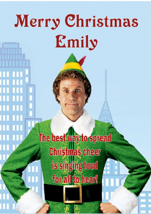 Personalised Elf Christmas Card